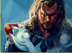 Thor Drawing Puzzle