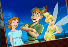 Tinkerbell and Peter Pan Coloring