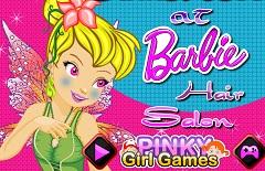 Tinkerbell at Barbie Hair Salon