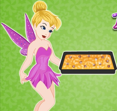 Tinkerbell Cooking Fresh Cherry Cobler