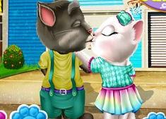 Tom and Angela Kissing