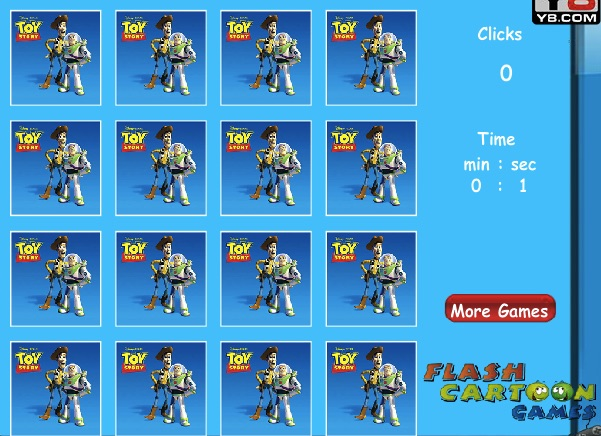 Toy Story Memory Games