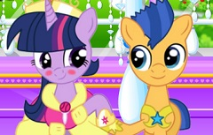 Twilight Sparkle and Flash Kissing
