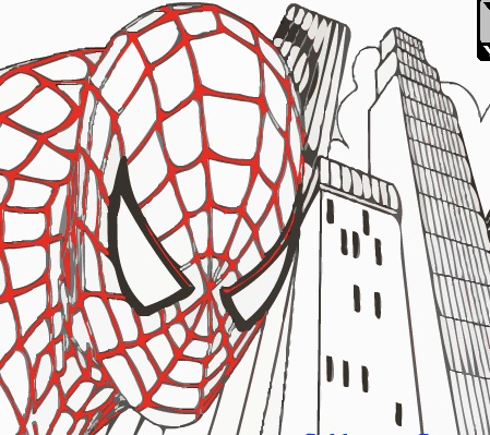ultimate spiderman coloring