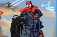 Ultimate Spiderman Cycle Race