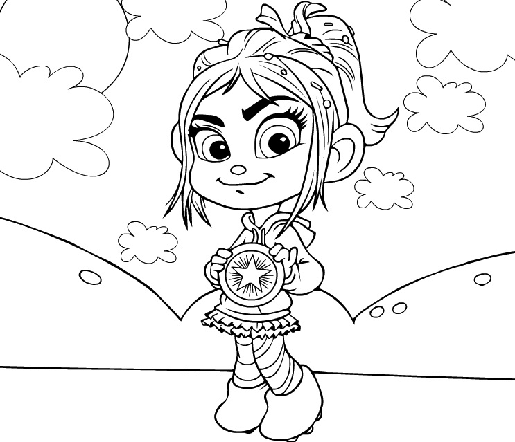 Vanellope Coloring