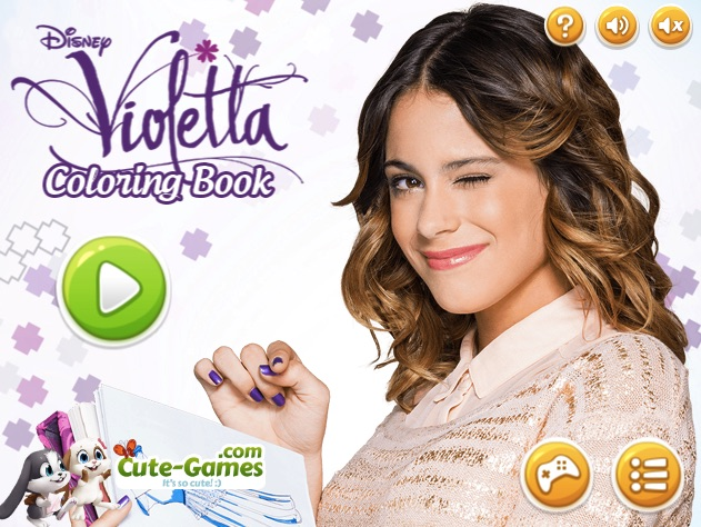 VIOLETTA COLORING BOOK  VIOLETTA GAMES