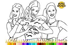 Violetta Coloring Page