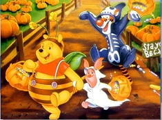 Winnie and Friends Halloween Puzzle