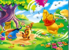 Winnie and Friends Windy Day Puzzle
