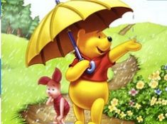 Winnie and Piglet Raining…
