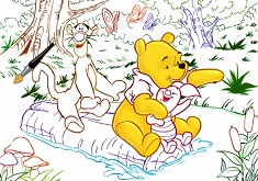 Winnie Tiger and Piglet ColorMath