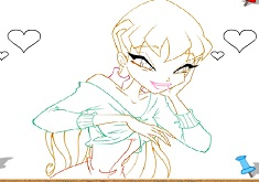 Winx CLub Stella Coloring