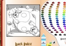 Ying Yang Puppy and Kitty Coloring