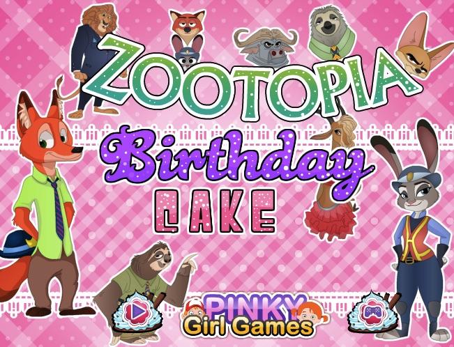 Zootopia Anniversary Cake