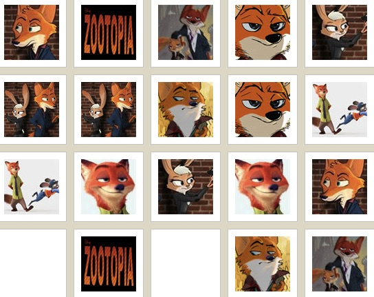 Zootopia Fox Memory Game